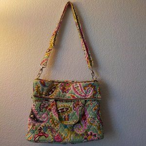 Vera Bradley Green Floral Quilted Purse Baby Bag